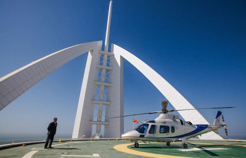 Вертолётная площадка отеля